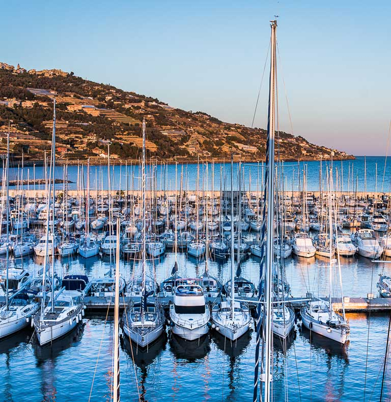 The Port Of Imperia Liguria ı Marina Degli Aregai